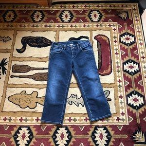 Silver capri jeans